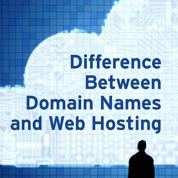 Difference between domain names and web hosting