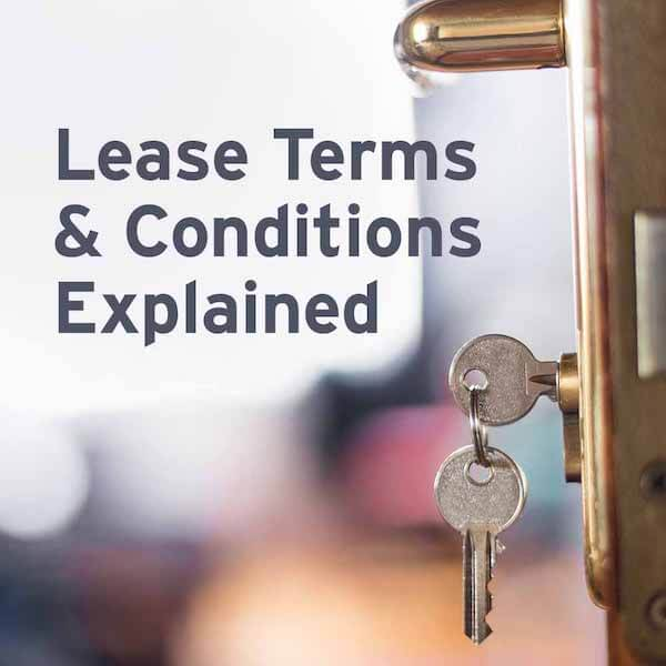 Lease terms and conditions explained